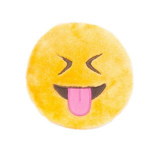 ZIPPY PAWS SQUEAKIE EMOJIZ TONGUE OUT PLUSH TOY - BD Luxe Dogs & Supplies - 1