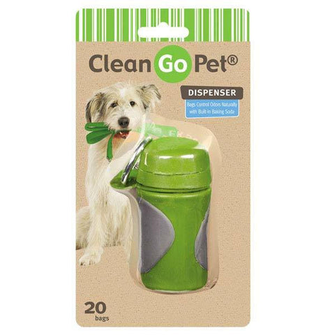 AXIS GREEN CLEAN GO PET WASTE BAG HOLDER WITH BAGS