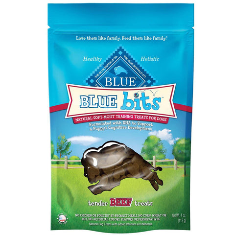 BLUE BUFFALO BLUE BITS BEEF TRAINING TREATS 4 OZ