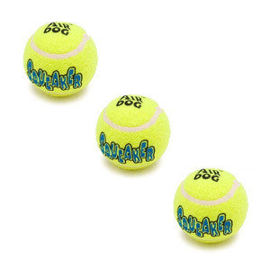 3 PACK MEDIUM AIR KONG SQUEAKER TENNIS BALLS - BD Luxe Dogs & Supplies