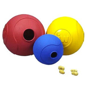 JW PET SMALL TREAT PUZZLER RUBBER TREAT DISPENSING BALL - BD Luxe Dogs & Supplies - 1