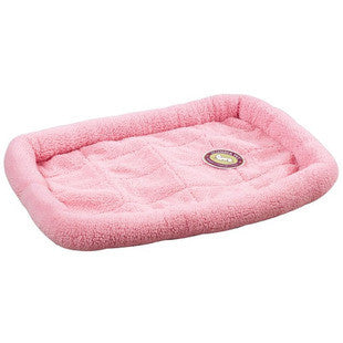 BABY PINK SLUMBER PET SHERPA CRATE BED - BD Luxe Dogs & Supplies