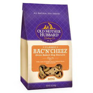 OLD MOTHER HUBBARD MINI BAC-N-CHEEZ DOG BISCUIT TREATS 5OZ - BD Luxe Dogs & Supplies