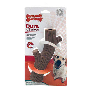 NYLABONE DURA CHEW HOLLOW STICK BACON WOLF SIZE