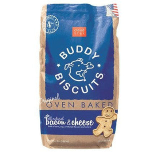 CLOUD STAR ORIGINAL BUDDY BISCUITS BACON CHEESE BULK 4LB - BD Luxe Dogs & Supplies
