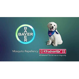 K 9 ADVANTIX II 6 MONTH FLEA AND TICK TREATMENT FOR DOGS 11 TO 20 LBS - BD Luxe Dogs & Supplies - 1