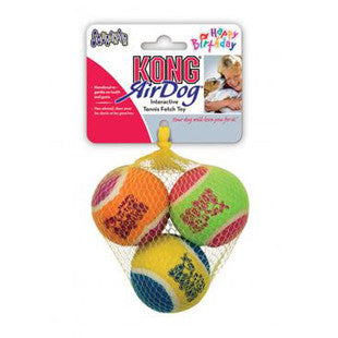 3 PACK MEDIUM ASSORTED KONG BIRTHDAY FETCH BALLS - BD Luxe Dogs & Supplies