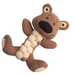 KONG PUDGE BRAIDZ BROWN BEAR DOG TOY - BD Luxe Dogs & Supplies