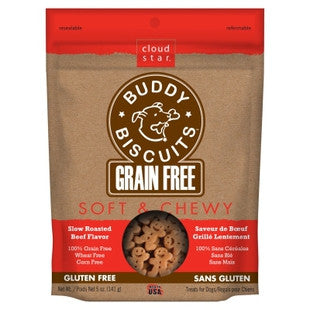 CLOUD STAR SOFT & CHEWY GRAIN FREE SLOW ROASTED BEEF TREATS 5OZ - BD Luxe Dogs & Supplies