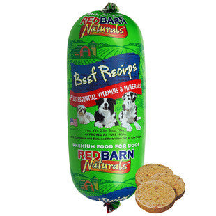 REDBARN BEEF DOG FOOD ROLL 10OZ - BD Luxe Dogs & Supplies
