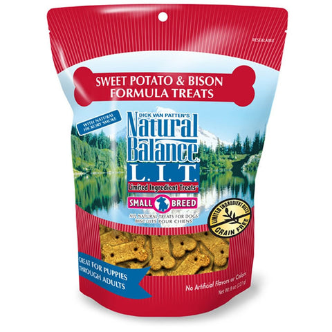 NATURAL BALANCE SMALL BREED SWEET POTATO & BISON TREATS 8OZ - BD Luxe Dogs & Supplies - 1