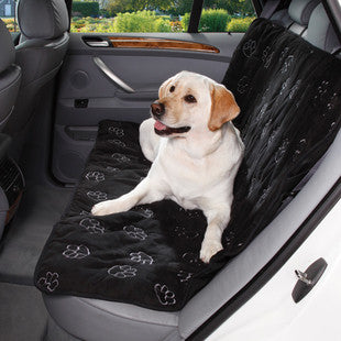 BLACK PAWPRINT BENCH CAR SEAT COVER - BD Luxe Dogs & Supplies - 1