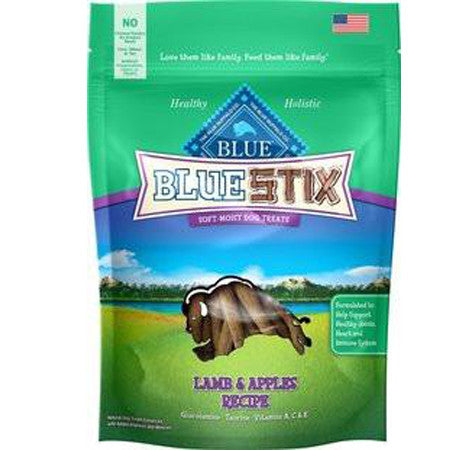 BLUE BUFFALO BLUE STIX LAMB AND APPLES DOG TREATS 6OZ
