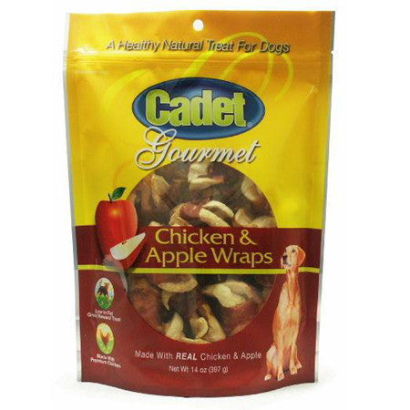CADET GOURMET CHICKEN AND APPLE WRAPS TREATS 14OZ