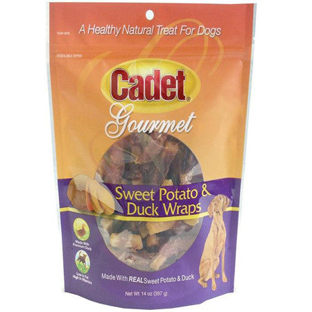 CADET GOURMET DOG SWEET POTATO AND DUCK WRAPS 14OZ