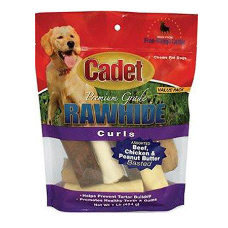 CADET RAWHIDE ASSORTED FLAVOR BASTED ROLLS 1 POUND BAG