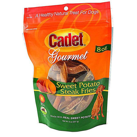 CADET SWEET POTATO STEAK FRIES DOG TREATS 8OZ