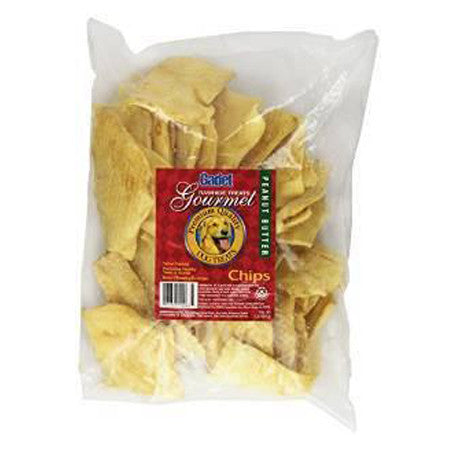 CADET PEANUT BUTTER RAWHIDE CHIPS 1 POUND BAG