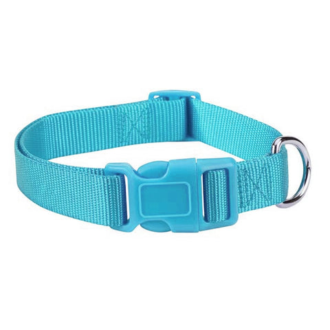 BLUEBIRD TEAL FASHION NYLON ADJUSTABLE DOG COLLAR - BD Luxe Dogs & Supplies - 1