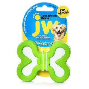 JW PET MEDIUM GOOD BREATH MINT FLAVOR RUBBER DOG TOY - BD Luxe Dogs & Supplies