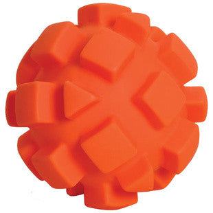 5.5 INCH ORANGE BUMPY DOG TOY - BD Luxe Dogs & Supplies