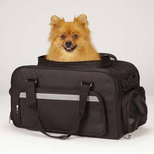 EAST SIDE COLLECTION BLACK ON THE GO CARRY ON BAG - BD Luxe Dogs & Supplies