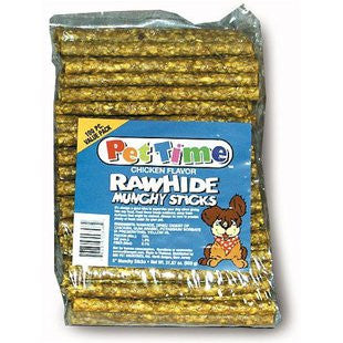 CADET MUNCHY RAWHIDE STICK CHICKEN BASTED DOG CHEW - BD Luxe Dogs & Supplies
