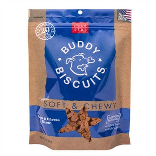 CLOUD STAR SOFT & CHEWY BUDDY BISCUITS BACON CHEESE 6OZ - BD Luxe Dogs & Supplies