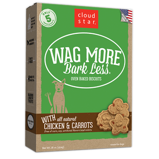 CLOUD STAR WAG MORE BARK LESS OVEN BAKED CHICKEN AND CARROTS DOG TREATS - BD Luxe Dogs & Supplies
