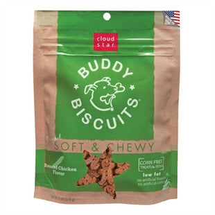 CLOUD STAR SOFT & CHEWY BUDDY BISCUITS ROASTED CHICKEN 6OZ - BD Luxe Dogs & Supplies