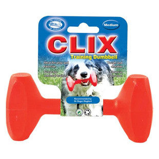 CLIX TRAINING DUMBBELL DURABLE MEDIUM FETCH TOY - BD Luxe Dogs & Supplies