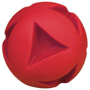 7 INCH RED CLUTCH BALL DOG TOY - BD Luxe Dogs & Supplies