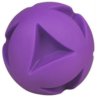 4.5 INCH PURPLE CLUTCH BALL DOG TOY - BD Luxe Dogs & Supplies