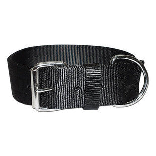 2 INCH WIDE BLACK LARGE BREED DOG COLLAR - BD Luxe Dogs & Supplies