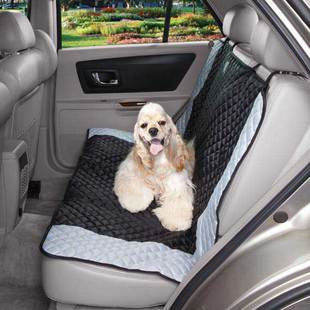 BLACK & BLUE FAIRFIELD BENCH CAR SEAT COVER - BD Luxe Dogs & Supplies