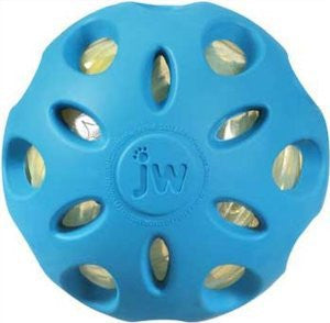 JW PET SMALL CRACKLE HEADS CRACKLE BALL DOG TOY