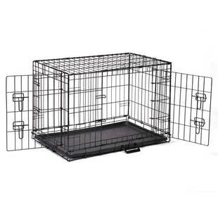 DOUBLE DOOR EASY DOG CRATE WITH DOUBLE LATCHING DOOR - BD Luxe Dogs & Supplies - 1