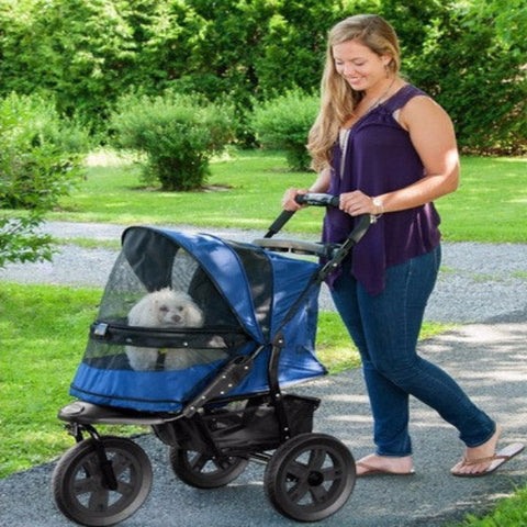 AT3 No-Zip Pet Stroller - Midnight River - BD Luxe Dogs & Supplies
