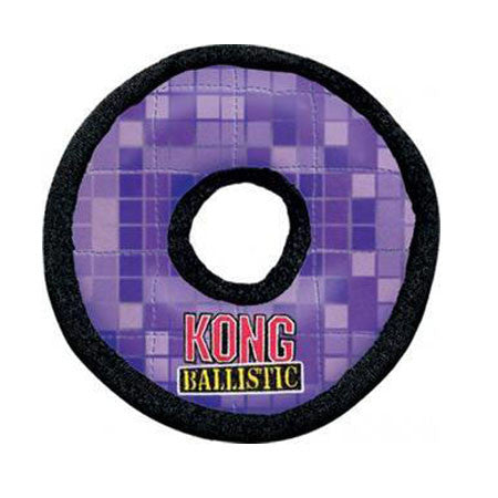 KONG BALLISTIC ASSORTED LARGE PLUSH RING DOG TOY