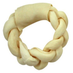 CADET PET TIME SUPREME TWISTED DONUT RAWHIDE BONE - BD Luxe Dogs & Supplies