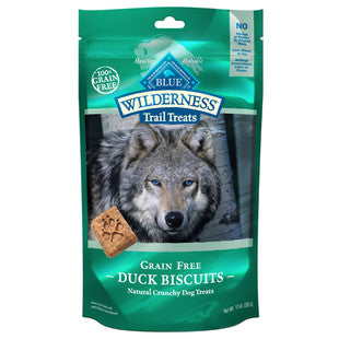 BLUE BUFFALO WILDERNESS TRAIL TREATS DUCK BISCUITS 10 OZ - BD Luxe Dogs & Supplies