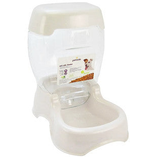 PETMATE CAFE 3LB DOG FEEDER PEARL WHITE - BD Luxe Dogs & Supplies