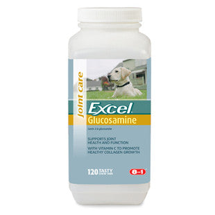 8IN1 EXCEL GLUCOSAMINE SUPPLEMENT 120CT - BD Luxe Dogs & Supplies