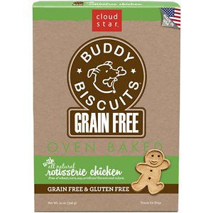 CLOUD STAR BUDDY BISCUITS GRAIN FREE CHICKEN 14 OZ. OVEN BAKED - BD Luxe Dogs & Supplies