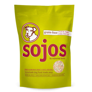 SOJOS GRAIN FREE DOG FOOD MIX 2LB - BD Luxe Dogs & Supplies