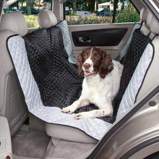 BLACK & BLUE FAIRFIELD HAMMOCK CAR SEAT COVER - BD Luxe Dogs & Supplies