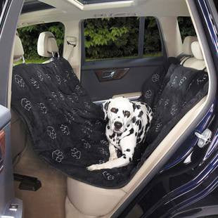 CRUISING COMPANION BLACK PAWPRINT HAMMOCK SEAT COVER - BD Luxe Dogs & Supplies