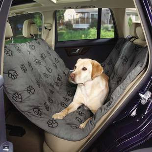CRUISING COMPANION CHARCOAL GRAY PAWPRINT HAMMOCK SEAT COVER - BD Luxe Dogs & Supplies - 1