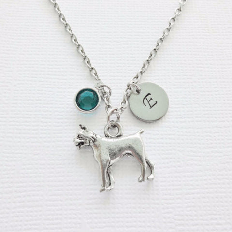 Dog Boxer Pewter Necklace - BD Luxe Dogs & Supplies - 1