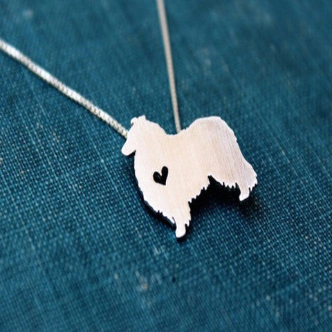Collie dog necklace sterling silver - BD Luxe Dogs & Supplies - 1